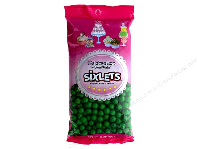 SweetWorks Celebration Sixlets 14 oz. Green