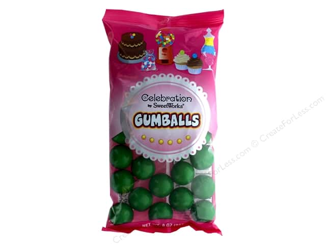 SweetWorks Celebration Gumballs 8 oz. Green