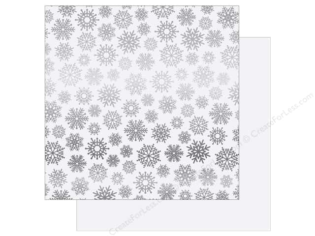 Carta Bella 12 x 12 in. Paper Let It Snow Silver Foil White (15 sheets)