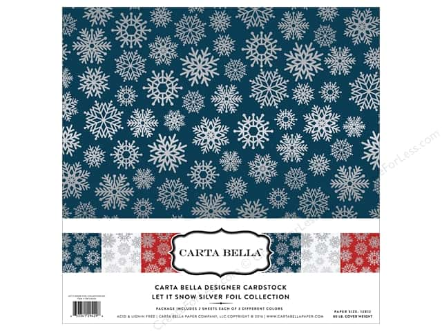 Carta Bella 12 x 12 in. Collection Kit Let It Snow Silver Foil