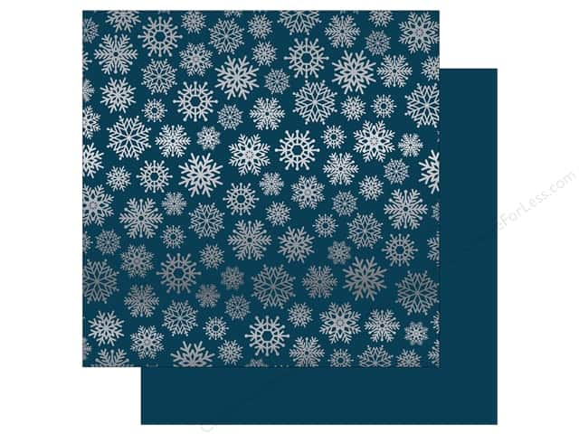Carta Bella 12 x 12 in. Paper Let It Snow Silver Foil Navy (15 sheets)
