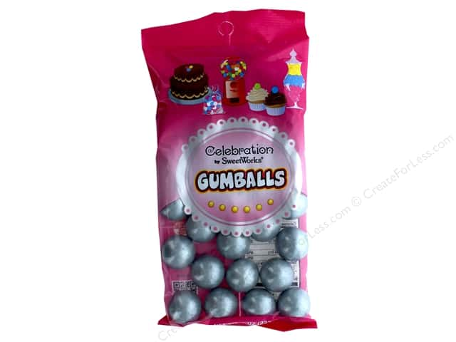 SweetWorks Celebration Gumballs 8 oz. Silver