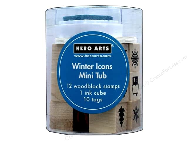 Hero Arts Rubber Stamp Mini Tub Winter Icons
