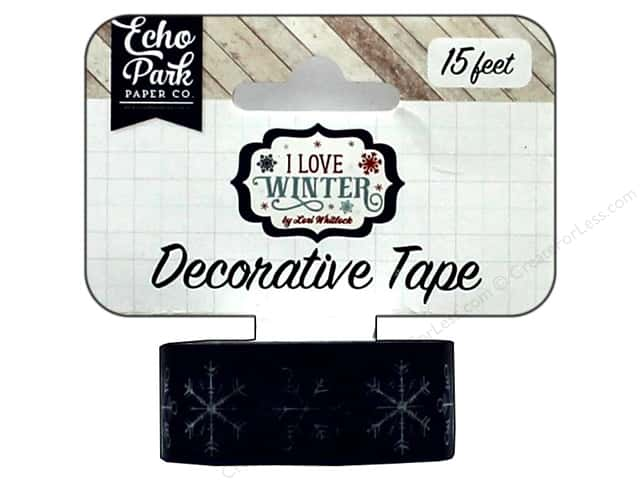 Echo Park Collection I Love Winter Deco Tape Snowflakes