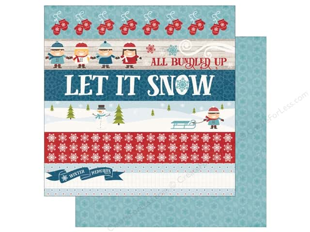 "Echo Park Collection I Love Winter Paper 12""x 12"" Border Strips (25 pieces)"