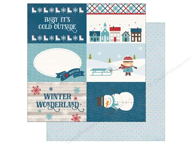 "Echo Park Collection I Love Winter Paper 12""x 12"" Journal Card 4""x 6"" (25 pieces)"