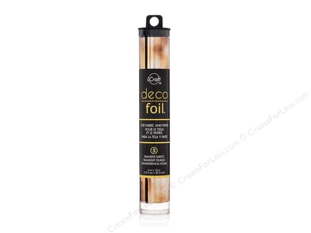 iCraft Deco Foil Transfer 6 in. x 12 in. Tube Amber Watercolor 5pc