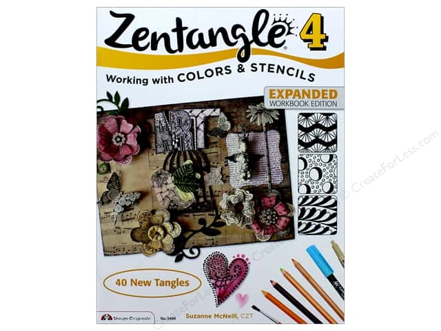 Design Originals Zentangle 4 Expanded Workbook Edition Book