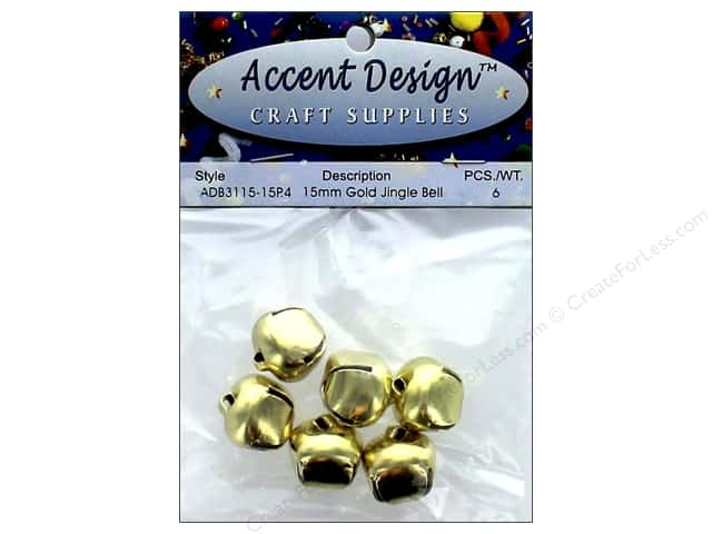 Jingle Bells by Accent Design 5/8 in. 5 pc. Gold