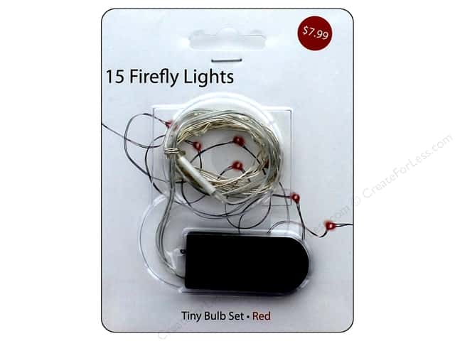 Sierra Pacific Crafts Lights Firefly 15 ct With Slim Battery Pack Red
