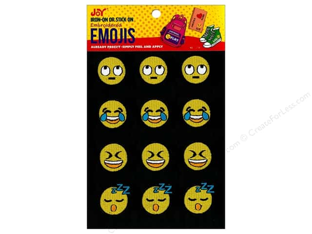 Joy Applique Iron On/Stick On Emojis #3 3 each/4