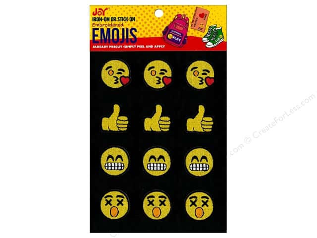 Joy Applique Iron On/Stick On Emojis #1 3 each/4