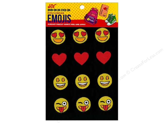 Joy Applique Iron On/Stick On Emojis #4 3 each/4