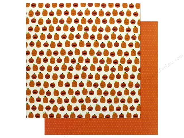 Pebbles 12 x 12 in. Paper Trick Or Treat Jack O Lantern (25 sheets)