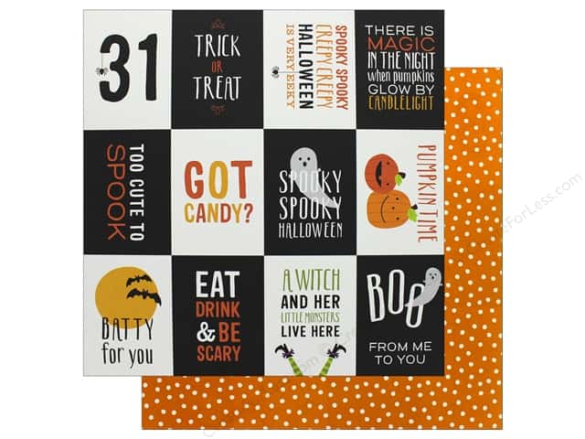 Pebbles 12 x 12 in. Paper Trick Or Treat October 31 (25 sheets)