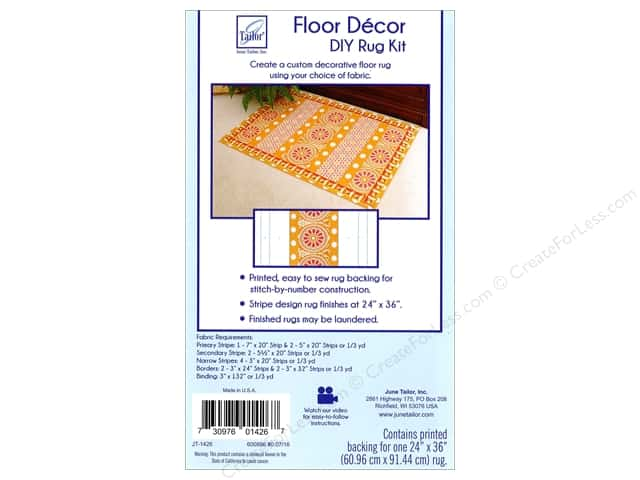June Tailor Kit Floor Decor DIY Rug Stripes 24 in. x 36 in.