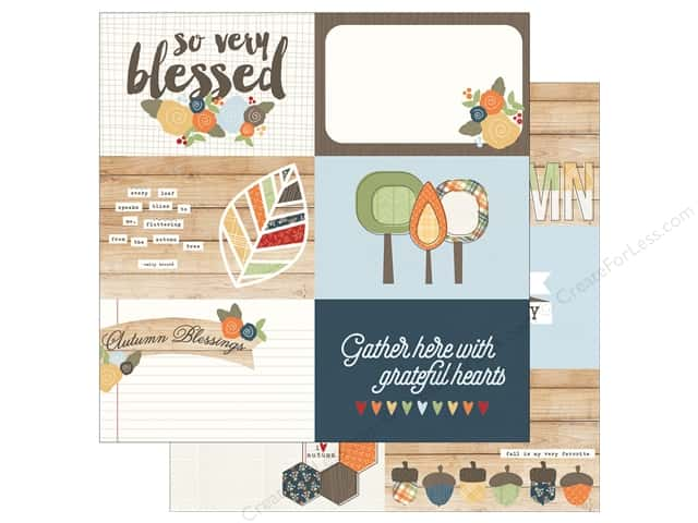 Simple Stories 12 x 12 in. Paper Hello Fall 4x6 Horizontal Elements (25 sheets)