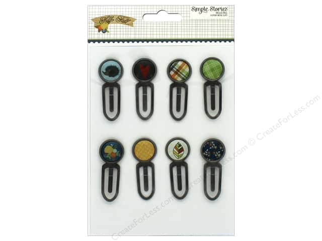Simple Stories Collection Hello Fall Epoxy Metal Clips