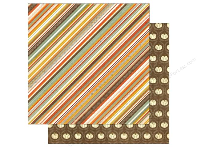 "Photo Play Collection Falling Leaves Paper 12""x 12"" Autumn Stripe (25 sheets)"