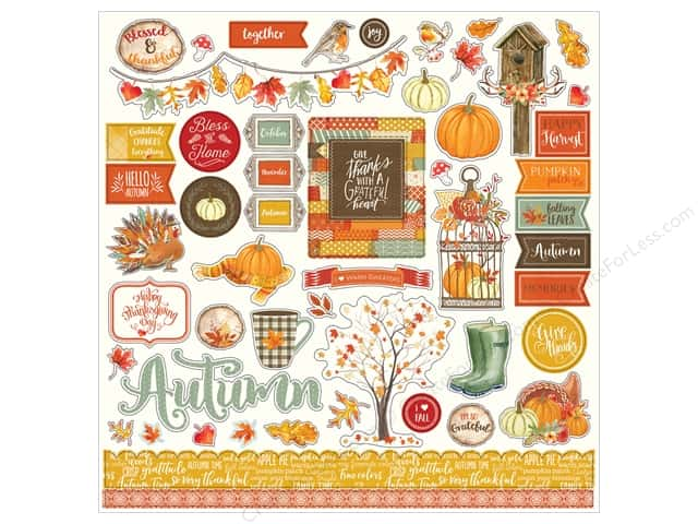 "Photo Play Collection Falling Leaves Sticker 12""x 12"" Elements (12 sets)"