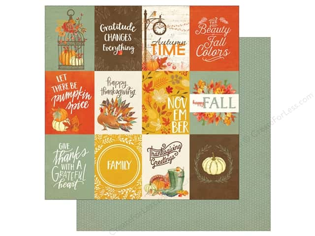 "Photo Play Collection Falling Leaves Paper 12""x 12"" 3""x 4"" Cards (25 sheets)"