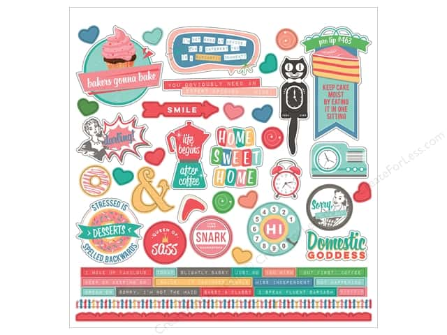 "Photo Play Collection Slightly Sassy Sticker Element 12""x 12"" (12 sets)"