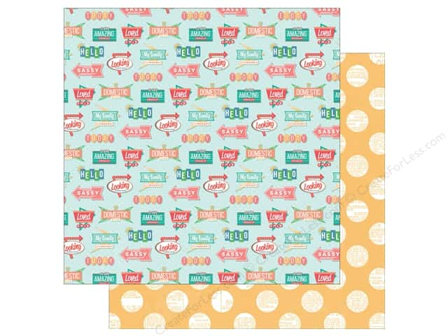 "Photo Play Collection Slightly Sassy Paper 12""x 12"" Eat At Joe's (25 sheets)"
