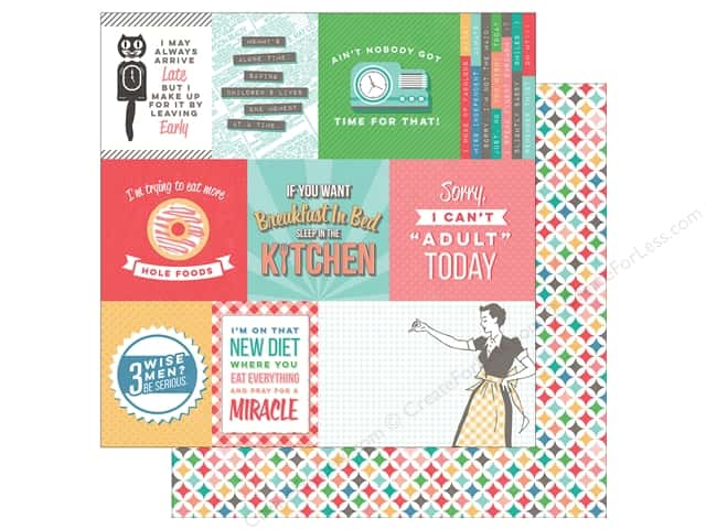 "Photo Play Collection Slightly Sassy Paper 12""x 12"" Snarky Cards (25 sheets)"