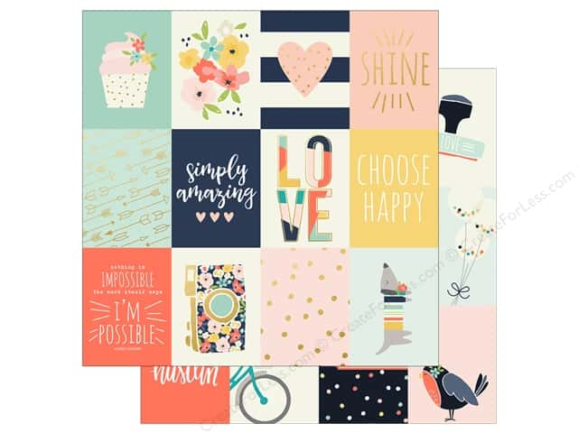 Simple Stories 12 x 12 in. Paper Posh 3x4 Journaling Card Elements (25 sheets)
