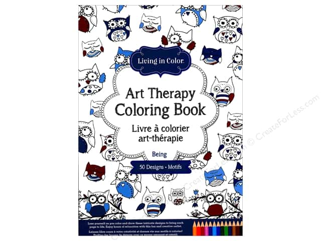 Multicraft Living In Color Art Therapy Being Coloring Book