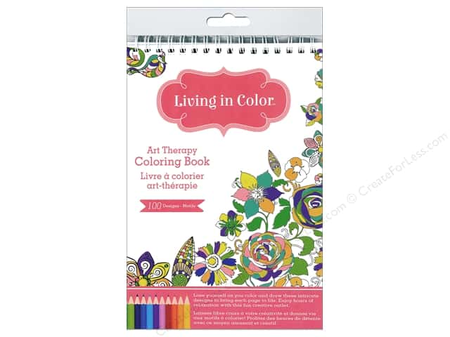 Multicraft Living In Color Art Therapy Gardenia Coloring Book