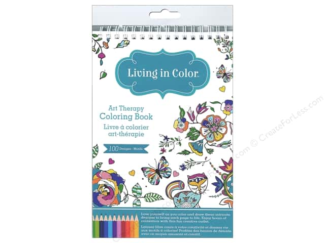 Multicraft Living In Color Art Therapy Flora & Fauna Coloring Book