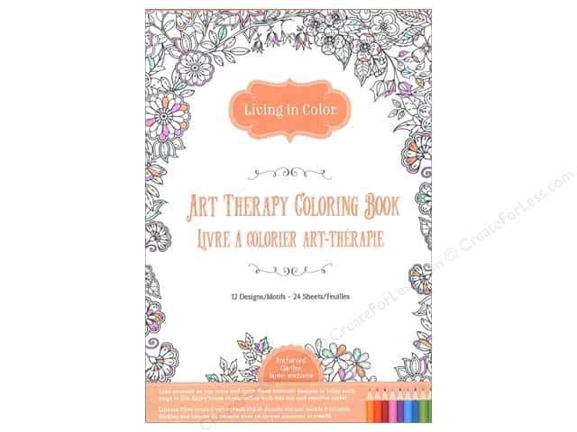 Multicraft Living In Color Art Therapy Enchanted Garden Coloring Book