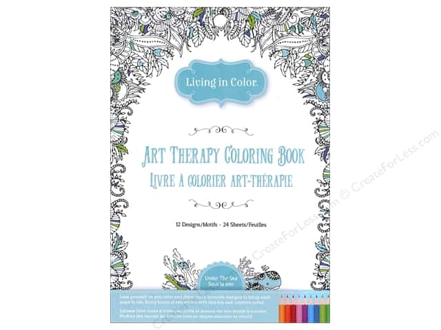 Multicraft Living In Color Art Therapy Under The Sea Coloring Book