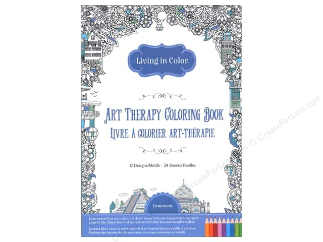 Multicraft Living In Color Art Therapy Destinations Coloring Book