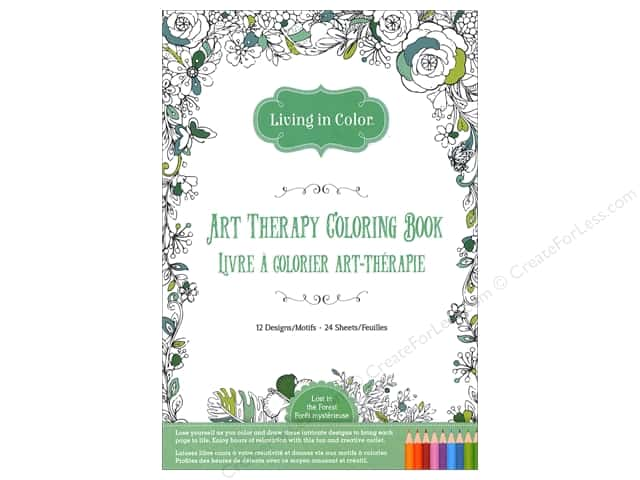 Multicraft Living In Color Art Therapy Lost In The Forest Coloring Book