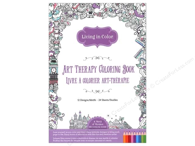 Multicraft Living In Color Art Therapy World Of Wonders Coloring Book