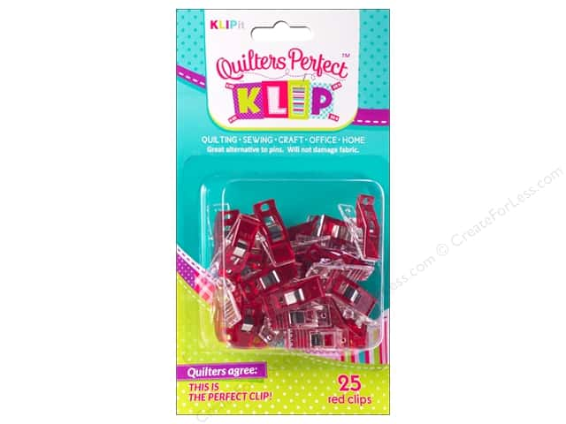 KLIPit Quilters Perfect Klip 25pc Red