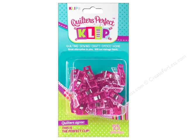 KLIPit Quilters Perfect Klip 25pc Pink