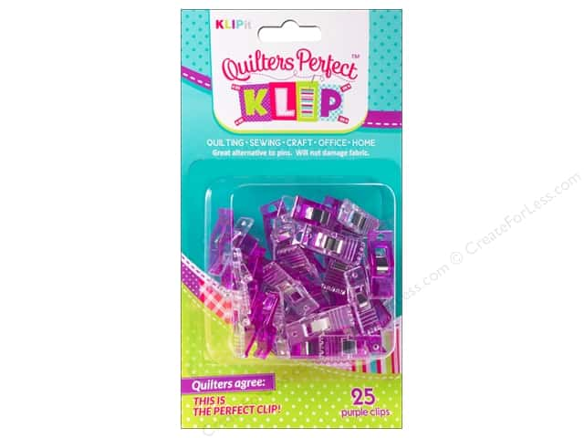 KLIPit Quilters Perfect Klip 25pc Purple