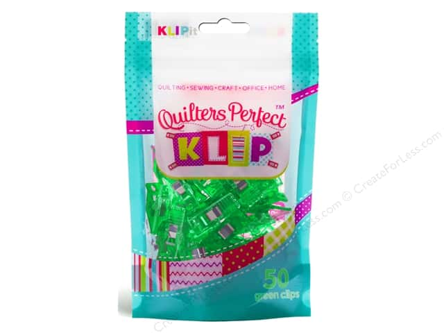 KLIPit Quilters Perfect Klip 50pc Green