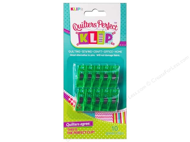 KLIPit Quilters Perfect Klip 10pc Green