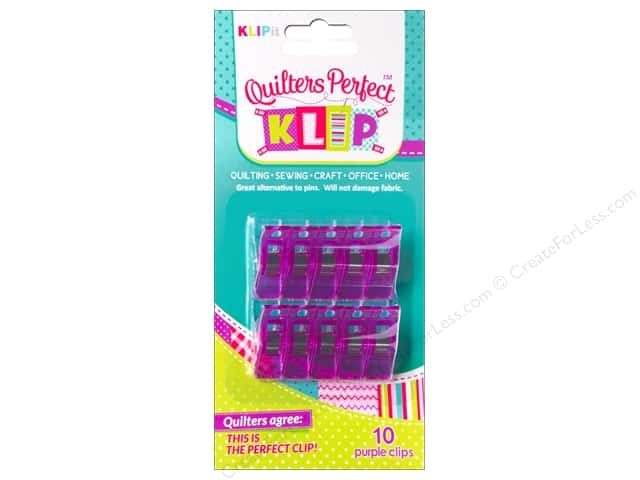KLIPit Quilters Perfect Klip 10pc Purple