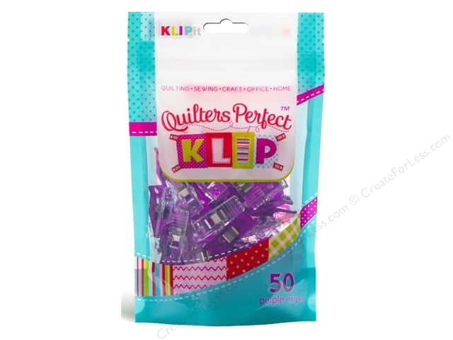 KLIPit Quilters Perfect Klip 50pc Purple
