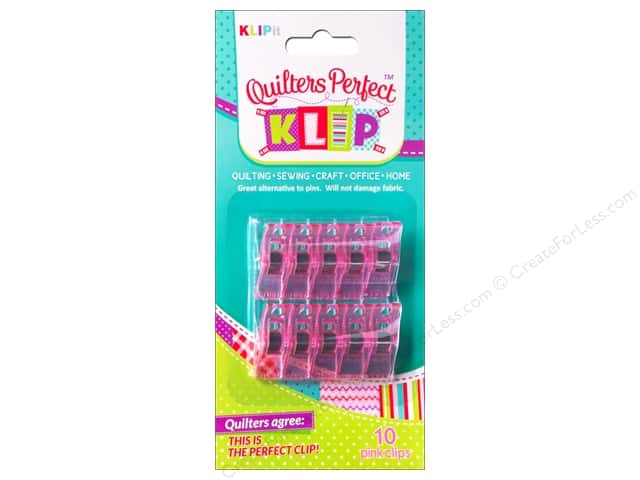 KLIPit Quilters Perfect Klip 10pc Pink