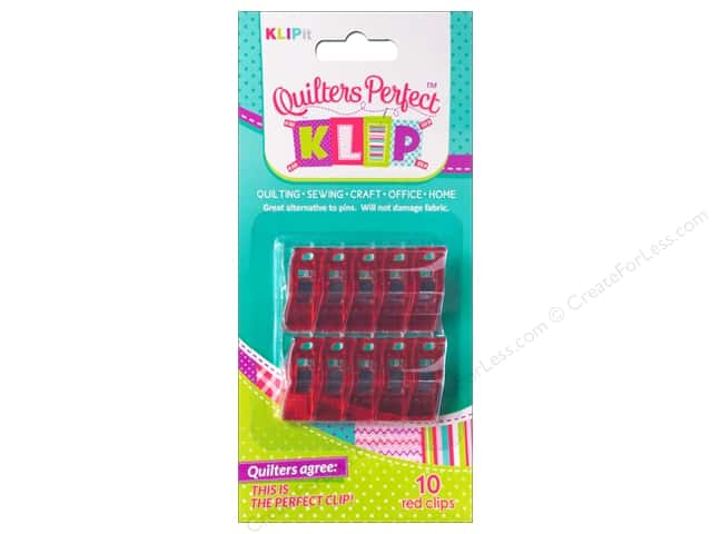 KLIPit Quilters Perfect Klip 10pc Red
