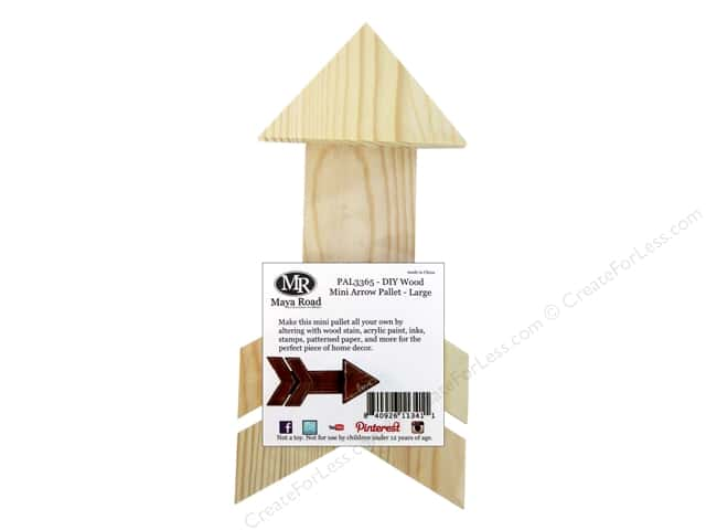 Maya Road DIY Wood Mini Arrow Pallet - Large
