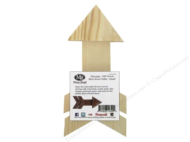 Maya Road DIY Wood Mini Arrow Pallet - Small
