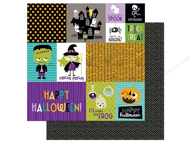 Bella Blvd 12 x 12 in. Paper Spooktacular Daily Details (25 sheets)