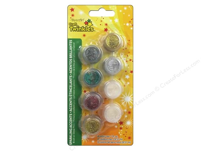 DecoArt Paint Pot Craft Twinkles 8 Sparkling Accents